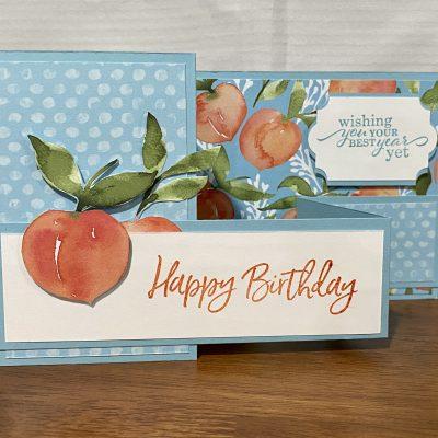 Sweet as a Peach Z Fold Card