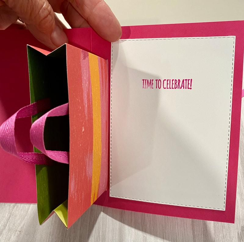 gift card holder, gift bag, stampin up, DIY gift card holder