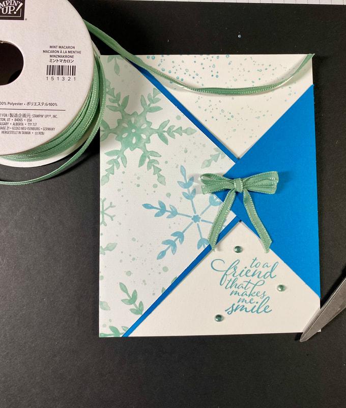 Snowflake Splendor DSP, Stampin Up!, Triangle, Fun Fold