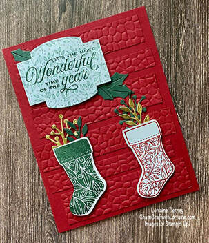Christmas Card  and Case-ing Tuesday #312