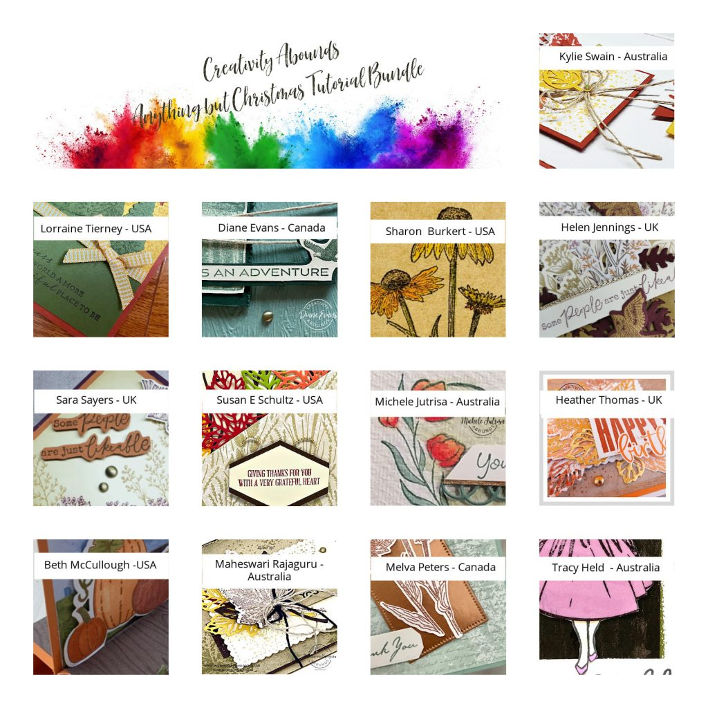 Sneak Peek photos of 13 projects from the July to December Mini Catalog from Stampin' Up!