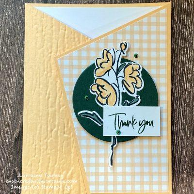 Angled Fold Thank You Card