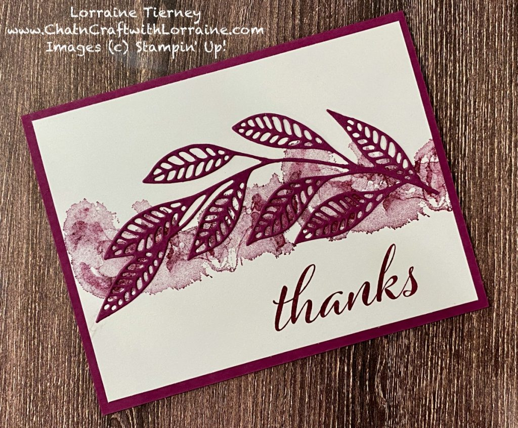 """Photo of Clean and Simple card in Rich Razzleberry with the sentiment """"thanks."""""""