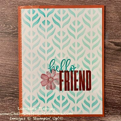 Hello Friend Color Challenge Card
