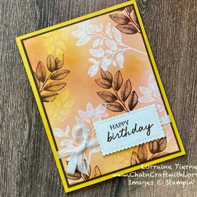 Embossed Layered Leaves Card
