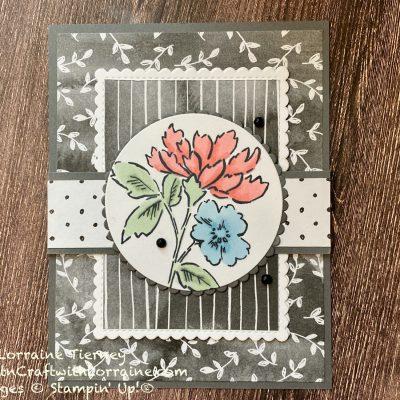 Fun Fold Beautifully Penned Card